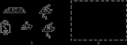 解:根据表中情况可知:灯泡和电铃工作时互不影响,因此灯泡和电铃并联连接; 根据表中数据可知,,都闭合时灯亮铃响;断开,闭合时灯不亮铃不响;说明是为总开关; 闭合,断开时灯不亮铃响;说明与灯泡在一条支路中,实物图和电路图如下图所示:
