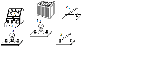 将如图所示的电学元件连接成电路,要求当两个开关都闭合时,两盏灯并联