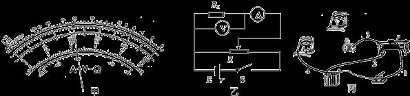 该同学在实验室找到一些器材,规格如下: .电压表,内阻约 .电流表,内阻约 .滑动变阻器:阻值范围为 .电源:约伏,内阻较小 .导线若干,电键一个 为较准确地测量该电阻的阻值,设计了如图乙所示的电路,请指出该实验中的两个不合理之处:_________,_________. 改进后,请你用笔画线代替导线,将丙图补充完整.